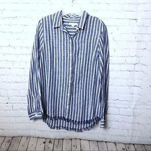 Beach Lunch Lounge Striped linen blend shirt